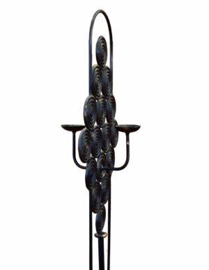 Κηροπήγιο μεταλλικό σφυρηλατημένο σε καμίνι στο ύψος και στην απόχρωση της επιλογής σας