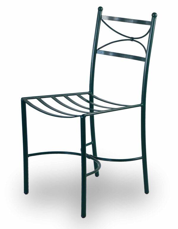 Μεταλλική καρέκλα για εξωτερικό χώρο Σιδερένια κατασκευή με ηλεκτροστατική βαφή.