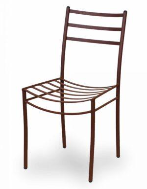 Μεταλλική καρέκλα  με ηλεκτροστατική βαφή στο χρώμα της επιλογής σας 2