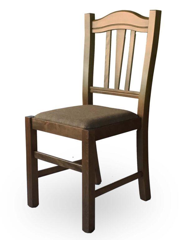 Ξύλινη καρέκλα  σε οποιοδήποτε απόχρωση. Το κάθισμα μπορεί να είναι ψάθα, ξύλο, δερμάτινη ή ύφασμα