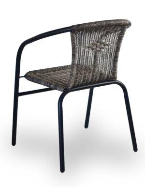 Πολυθρόνα για εξωτερικό χώρο Μεταλλικός σκελετός με πλάτη και κάθισμα απο rattan
