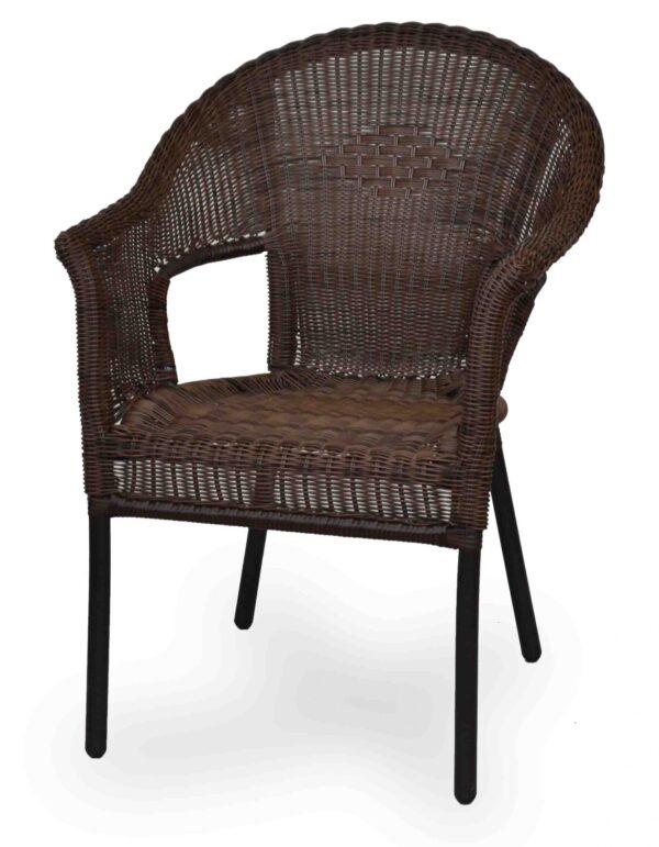 Πολυθρόνα για εξωτερικό χώροΣκελετός αλουμινίου με πλάτη και κάθισμα απο rattan