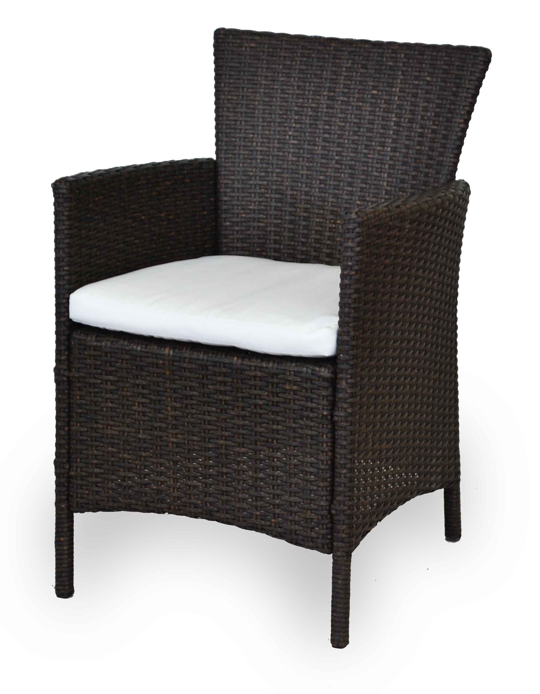 Πολυθρόνα για εξωτερικό χώρο Σκελετός αλουμινίου με πλάτη και κάθισμα απο rattan
