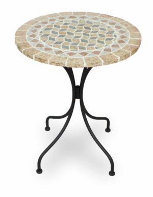 Τραπέζι με μεταλλική βάση με Φ60 φυσικό γρανίτη