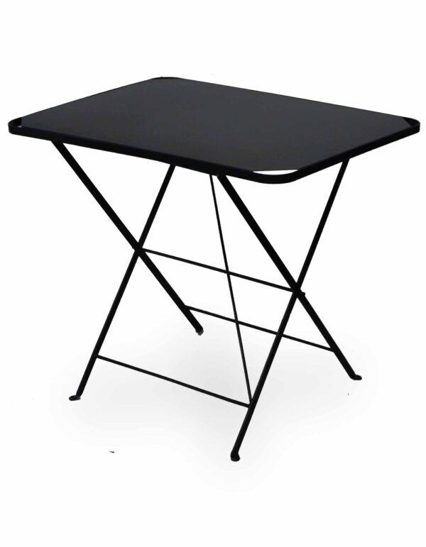 Μεταλλικό τραπέζι πτυσσόμενο με ηλεκτροστατική βαφή και επιφάνεια από λαμαρίνα 80Χ60