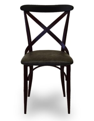 Καρέκλα με μεταλλικό σκελετό και κάθισμα από δερμάτινη ύφασμα ή ξύλο στα χρώματα της επιλογής σας