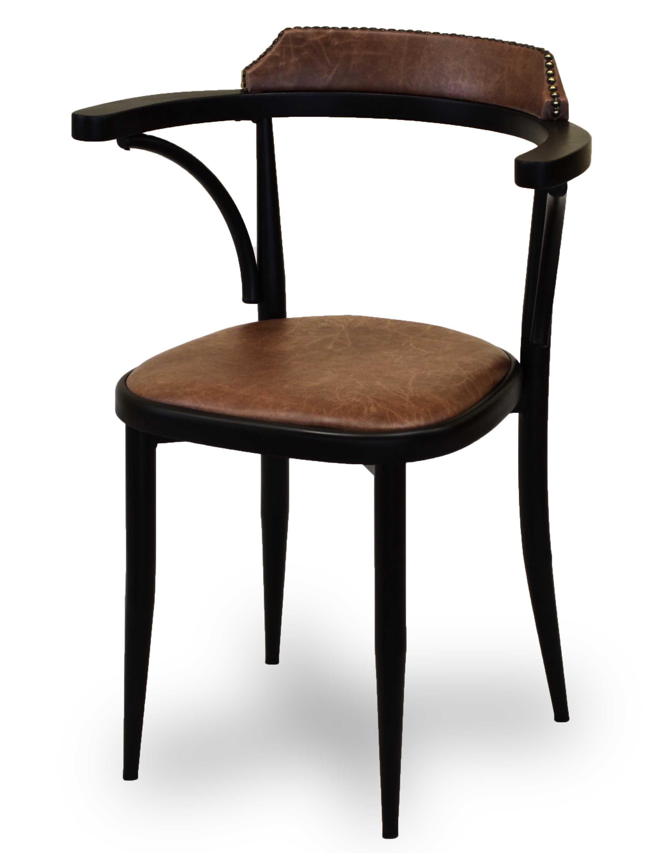 Μεταλλική πολυθρόνα με ξύλο στην πλάτη Σιδερένια κατασκευή με ηλεκτροστατική βαφή Το κάθισμα μπορεί να γίνει από δερμάτινη ύφασμα ή ξύλο στα χρώματα της επιλογής σας
